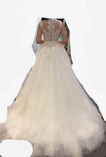拖尾婚紗 wedding gown pre wedding