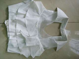 Crop top mix gauze