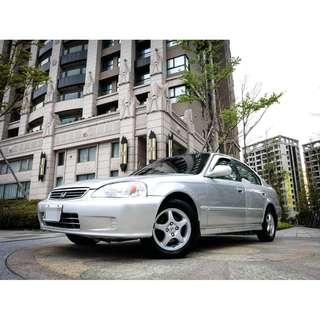 2000年 喜美 K8 4門 銀色 皮椅 烤漆內裝優美 小白信用不良 皆可辦理 可履約保證無重大事故泡水非營業用車