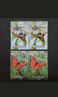 Malaysia 1970 Butterflies 2nd Series Block Of 2 x 2 - 4v Used Stamps