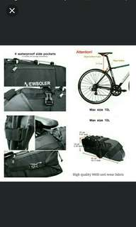 🆕🆒NEWBOLER Bike Bag Bicycle Saddle Tail Seat Waterproof Storage Bags Cycling Rear Pack Painners Accessories 10L Max