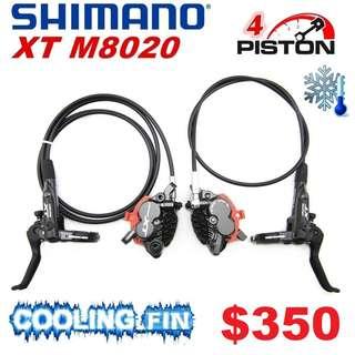 Shimano XT M8020 4-Piston COOLING FINS Hydraulic Brake ---------- (XTR M9020 XT M8020 M8000 M785 SLX M7000 M315 MT2 MT5 MT5E MT7) DYU