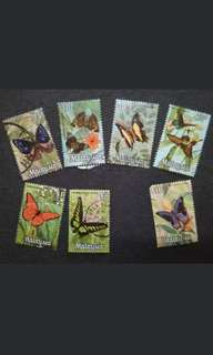 Malaysia 1970 Butterflies 2nd Series Loose Set Short Of $5 - 7v Used Stamps #4