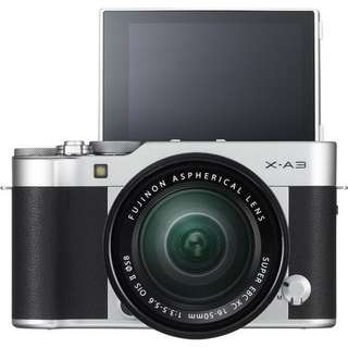 Fujifilm XA3 Kit XC16-50mm f3.5-5.6 OIS II (Silver) + Instax Mini 8