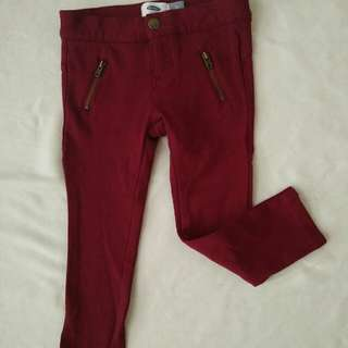 old navy maroon jegging new