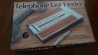 Telephone list finder/directory