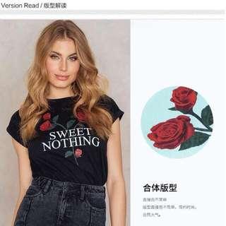 💋Sweet Nothing Rose Tee Shirt