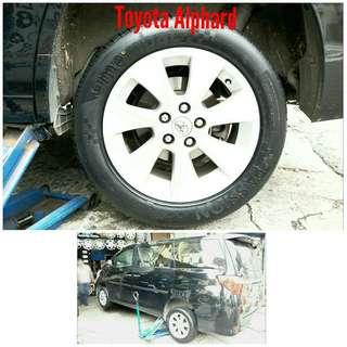 Tyre 225/55 R17 Membat on Toyota Alphard 🐕 Super Offer 🙋♂️