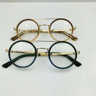 Round double bridge vintage glasses 復古韓國眼鏡