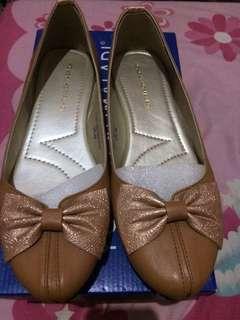 Reprice Flat Shoes Nude / Alas Kaki Yongki Komaladi