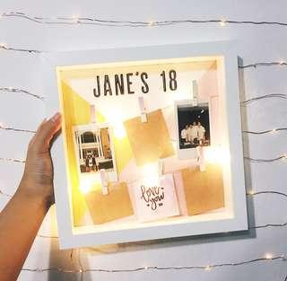 Birthday photo light box
