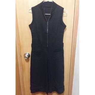 [Used] OP Black One Piece Dress 黑色 連身裙 超顯瘦
