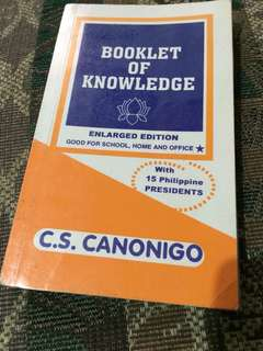 Booklet of Knowledge