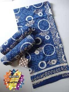 india indigo scarf