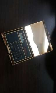 1990年代初card holder solar calculator