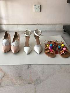 [Clearance] Heels and Pom Pom sandals