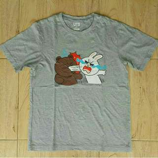 Original Line Friend x uniqlo tees Brown and conny