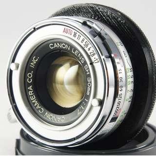 **日光銀鹽** Canon SH 30mm F1.7 定焦廣角鏡(Demi EE17) 已改NEX接環 #001