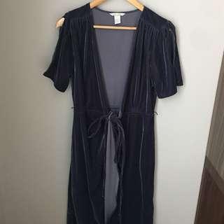 Velvet wrapped dress H&M