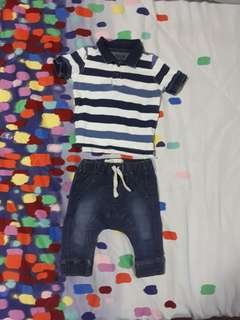 Polo shirt & pants