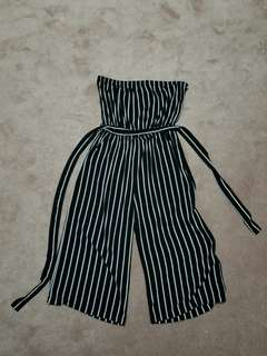 Coulotte-Style Strapless Jumpsuit