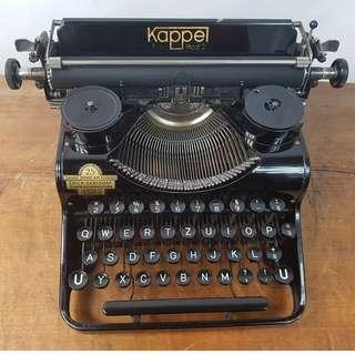 1937年 德國製 KAPPEL FIPS 2 型  古董 打字機