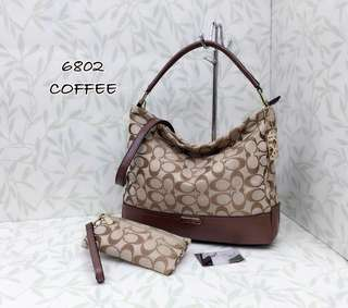 Coach Handbag Coffee Color