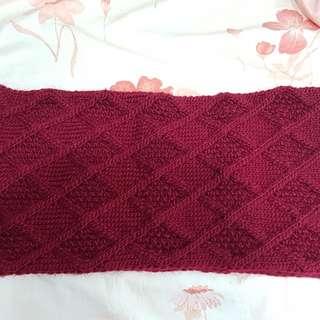 🚚 酒紅色圍巾 Burgundy scarf