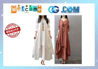 【Pre-Order】Fairy Princess Linen Dress Dresses Women's Maxi High Quality
