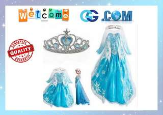 【Pre-Order】Frozen Princess Elsa Long Sleeves Dress Girl Kids Children Cute beautiful