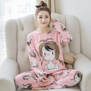New Arrival Long Sleeve Shirt & Long Pant Suit Cartoon Design