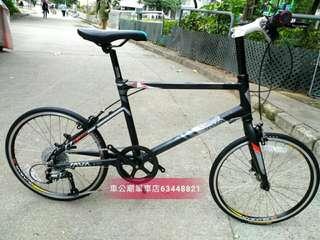清貨! JAVA CL 20吋 C剎 SHIMANO 9速451軨 小徑車單車 黑灰色! 11-34T 不儀價!