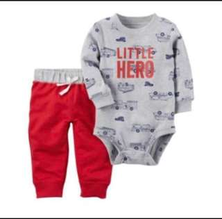 *18M* BN Carter's 2-Piece Bodysuit and Pant Set For Baby Boy (