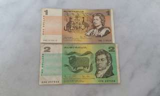 Vintage First series Australia banknote currency note (2 pcs)