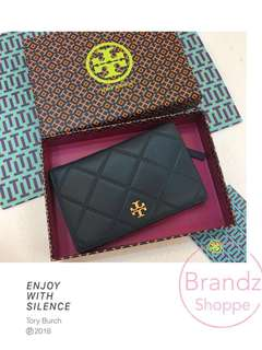 🐎 Pre-RAYA Sale! BNWT @ Tory Burch Georgia Slim Wallet 36990 (Black) Ready Stock