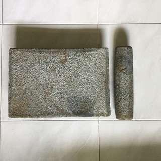 Old granite grinder
