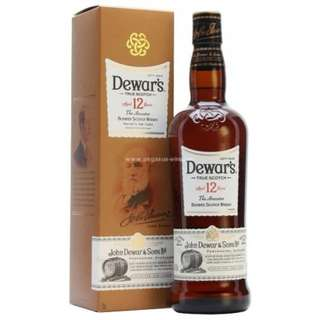 Dewar's 12 Years Double Aged Blended Scotch Whisky 帝王12年二次陳年調和威士忌