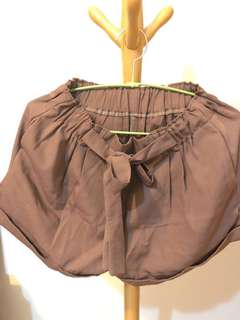 🚚 日式鬆緊褲頭綁帶式短褲