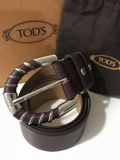 🇮🇹全新! TOD'S Women's Leather Belt 女款真皮皮帶