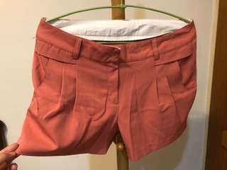 🚚 氣質玫瑰粉短褲隱藏鈕扣