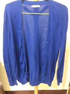 🚚 寶藍色針織外套冷氣房必備