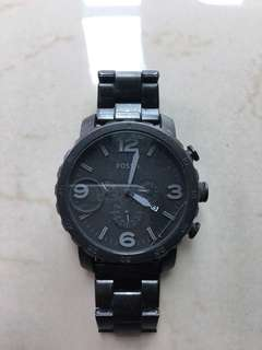Matte black fossil watches