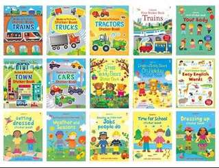 Usborne sticker books for age 3+