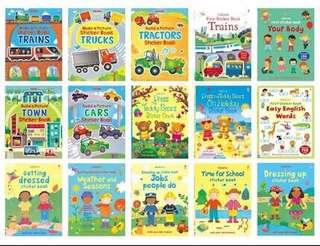 Usborne sticker books for age 3+