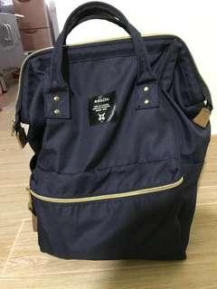 Anello 正版 深藍色 背包 背囊