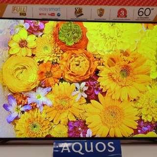 "Promo Cicilan Tanpa Kartu Kredit TV Sharp Easy Smart Full HD 60"""