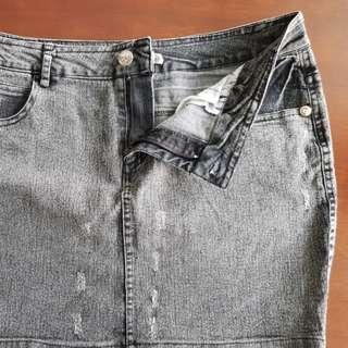【彈性牛仔裙】XL