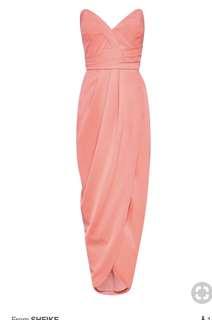 Sheike (Australia) - Size 8; Lulu Maxi Dress in Coral