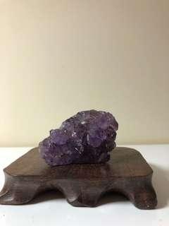 拋光瑪瑙邊紫水晶晶體