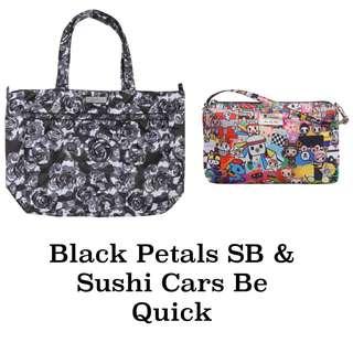 Ju-Ju-Be Onyx Black Petals Super Be & Tokidoki Sushi Cars Be Quick